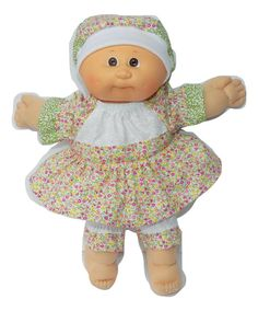 """Cabbage Patch Doll Clothes 14/"""" or preemie size Green Blue Yellow Stripe Pants"""