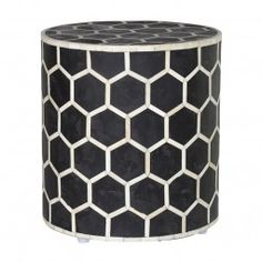 Bone Inlay Stool - Honeycomb For Sale French Bedside Tables, Console Tables, Weylandts, Contemporary Side Tables, Dressing Table With Stool, Dressing Tables, Honeycomb Pattern, Hexagon Pattern, Home Decor Accessories