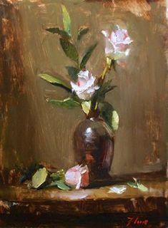 Pretty Pinks by Kelli Folsom Oil ~ 12 x 9 Art Floral, Still Life Oil Painting, Art For Art Sake, Portrait Art, Art Oil, Watercolor Flowers, Flower Art, Landscape Paintings, Creations