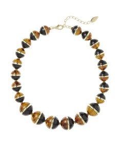 Demi bead necklace - [K20499]