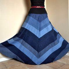 long denim skirts