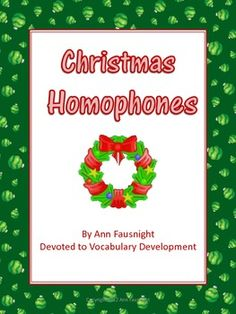 Christmas Homophones: Worksheets and Games
