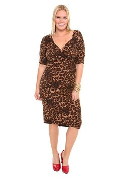 Stop Staring - Leopard Wiggle Sweater Dress