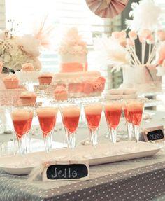 Fancy jello shots for bridal shower ;)