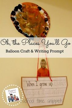 Dr. Seuss Craft and Writing Prompt: Go Along Activity for Oh, The Places You'll Go