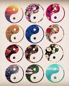 #YinYang, #Floral, #Design, #Peace