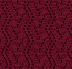 Vertical Zig Zag Lace Knitting Stitch Pattern