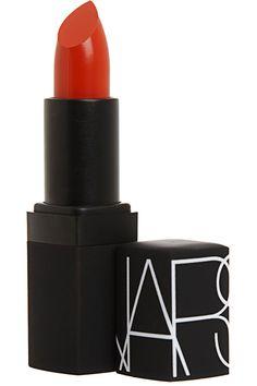 Best Lipstick Colours juged by the H. Bazaar Editors NARS Semi-Matte Lipstick in HEAT WAVE Orange Red