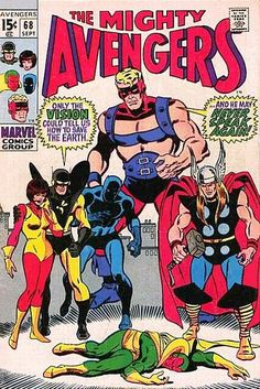The Avengers. Can it be? Can the Vision be dead? Sal Buscema cover. #Avengers #Vision #SalBuscema