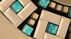 Beautiful Handmade Mosaic Mirror Bevelled Edge white ceramic and blue foiled glass Mosaic Tile Mirror Mosaic, Glass Mosaic Tiles, Mosaic Art, Handmade Mirrors, Cd Crafts, Mirror Plates, Beautiful Mirrors, White Ceramics, Etsy