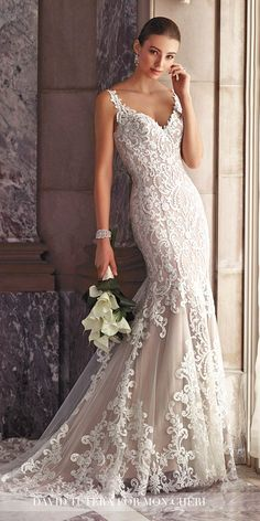 David Tutera Wedding Dresses 2017 For Mon Cheri Bridal ❤ See more: http://www.weddingforward.com/david-tutera-wedding-dresses/ #wedding #dresses #2017