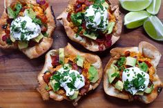 Chicken Ranchero Taco Bowls | To make the bowls just fold Udi's GF tortillas over an inverted muffin pan and bake until golden and crisp! #WhatTheHack