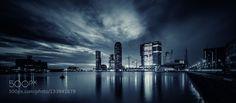 Rotterdam III - Pinned by Mak Khalaf Rotterdam skyline at dawn City and Architecture NetherlandsRotterdamarchitecturelong exposurenight photographynightscaperivertheo peekstokwater by TheoP