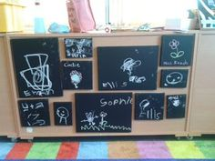 mark making in the early years blackboard paint on canvases Eyfs Classroom, Classroom Layout, Classroom Organisation, Classroom Design, Classroom Displays, Classroom Ideas, Writing Area, Writing Skills, Play Based Learning