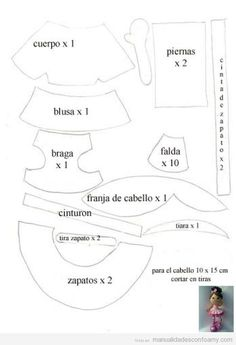 Molde de Muñeca de foamy, fofucha bailarina ballet