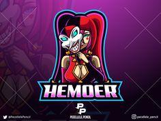 Shaco girl designed by Irvan Ramdani. Team Logo Design, Mascot Design, Army Wallpaper, Apple Wallpaper, Greek Titans, Anime Meme Face, Angry Animals, Esports Logo, Game Logo
