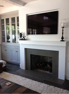 Fireplaces – transitional – living room – orange county – by Hart Concrete Desig… – Fireplace tile ideas Transitional Living Rooms, Family Room, Trendy Living Rooms, Modern Fireplace, Fireplace Bookshelves, Fireplace Decor, Simple Fireplace, Living Room Orange, Fireplace Design