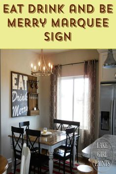 DIY a Marquee sign for your home ~ this would be fun at a wedding as well or any get together with family and friends