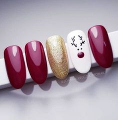 one thing for many who like simplicity Nail decorations winter nails Christmas nails nail nails inspira Nail Art Noel, Xmas Nail Art, Christmas Nail Art Designs, Winter Nail Designs, New Years Nail Designs, Christmas Gel Nails, Holiday Nails, Christmas Makeup, Easy Christmas Nail Art