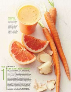 cleanse- grapefruit, carrot & ginger juice