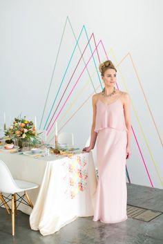 Tribal geometric wedding inspiration from BLOVED Blog
