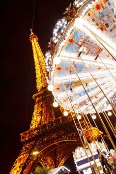 Eiffel Tower Carousel, Paris, France ~Via Nili Epstein