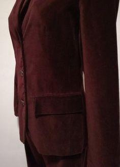 Kostüm aus Baumwollsamt, weinrot/bordeaux, Gr.34