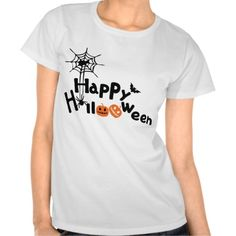Happy Halloween Womens Hanes ComfortSof; T-Shirt