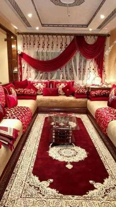 Previous Next decorationmarocains living room album; living room red living room, the moroccan living room, living room image, modern living room 2019 Living Room Sofa Design, Home Room Design, Home Interior Design, Living Room Designs, Moroccan Decor Living Room, Indian Living Rooms, Living Room Red, Moroccan Room, Moroccan Interiors