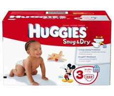 Huggies Snug & Dry Diapers, Size 3, 222-Count - http://www.intomars.com/huggies-snug-dry-size-3-diapers.html