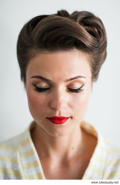 Retro bridal look or prom hair - LikeaLady.net