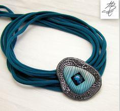 amazing pendant, original design by Martina Burianova, Czech Republic, polymer clay jewerly