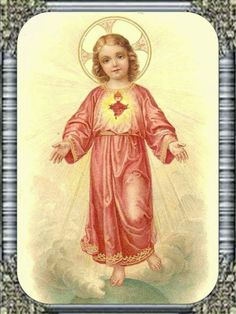 Divino Niño Jesús, dueño de mi corazón y mi vida, mi tierno y adorado Niño, llego hasta Ti lleno de esperanza, llego a Ti supli...