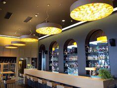 Spiro and X Club lamps at Bevanda Hotel, Opatija, Croatia. #WoodLighting #WoodLamps #LZF #design