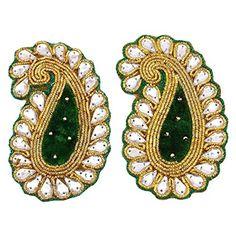 Green Beaded Applique Sewing Accessories Royal Patch Decorative Applique 1 Pair Knitwit http://www.amazon.com/dp/B01967U0UM/ref=cm_sw_r_pi_dp_rneMwb0YRWVH9