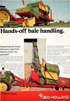 Sperry-New Holland Bale Wagon Ad