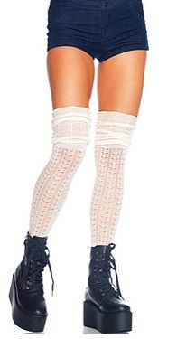 White Knit Thigh High Socks ONLY $8!  http://www.hotlegsusa.com/P/366/LegAvenueOvertheKneeKnitSocks