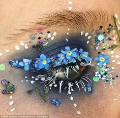 Masterpiece! Make-up artist Ellie Costello creates incredible works of art on her eyes...