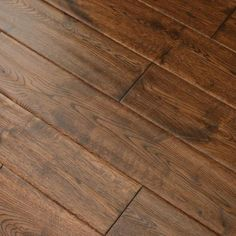 "Oak Gunstock Dark 5/8 x 5"" Hand Scraped Engineered Hardwood Flooring"