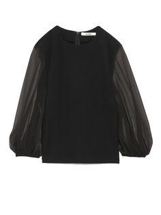 シースルースリーブカットトップス(カットソー) snidel(スナイデル) ファッション通販 ウサギオンライン公式通販サイト