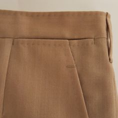 A walkthrough of beautiful details in a pair of handmade bespoke men's trousers, by Handsewn Canvas