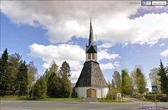"""Campanile de l'église de Tornio (Finlande), construit en 1686, et qui a échappé aux incendies.  65°51'0.71""""N 24° 8'34.81""""E"""