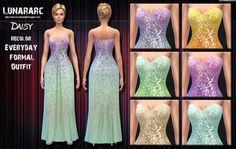 Daisy Beaded Long Dress at Lunararc via Sims 4 Updates