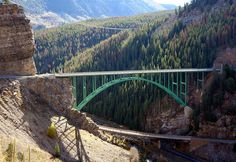 Red Cliff Bridge (also known as the Eagle River Bridge) is an arch bridge near Vail, Colorado that carries U.S. Highway 24 over the Eagle River and the former Union Pacific Railroad track over Tennessee Pass. It is one of only two steel arch bridges within the entire state and is listed on the National Register of Historic Places