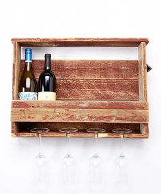 Another great find on #zulily! Barnwood Red Wine Rack by DelHutson Designs #zulilyfinds