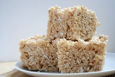 Coconut chai rice krispy treats!