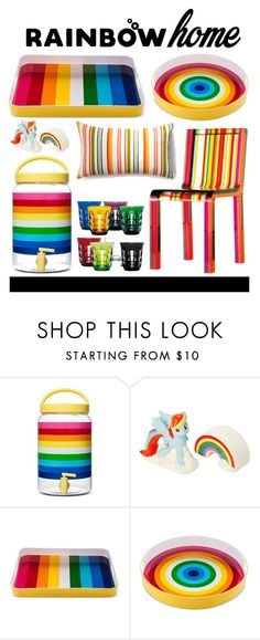 """""""rainbow home"""" by julietacelina on Polyvore featuring interior, interiors, interior design, home, home decor, interior decorating, My Little Pony and rainbowhome"""