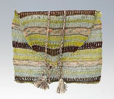 Purse  Date: ca. 1785 Culture: British Medium: silk Dimensions: 4 3/4 x 6 1/2 in. (12.1 x 16.5 cm) Credit Line: Brooklyn Museum Costume Collection at The Metropolitan Museum of Art, Gift of the Brooklyn Museum, 2009; Designated Purchase Fund, 1981 Accession Number: 2009.300.2193