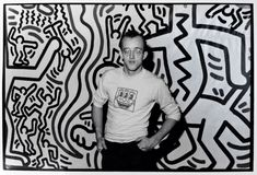 Keith Haring is best known for his graffiti-inspired drawings of pulsating figures that seem to dance off the canvas of New York City streets in the 198