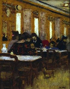 Le petit restaurant / Edouard Vuillard  [ http://commons.wikimedia.org/wiki/File:Vuillard_The_little_Restaurant_DMA.jpg ]
